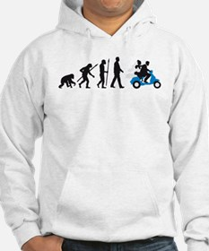 Evolution of man wedding scooter Hoodie