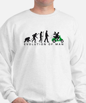 Evolution of man wedding scooter Sweatshirt