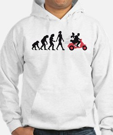 Evolution of woman wedding scooter Hoodie