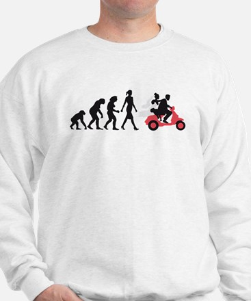 Evolution of woman wedding scooter Sweatshirt