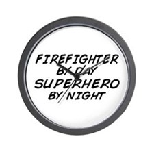 Firefighter Superhero Wall Clock