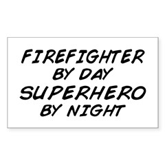 Firefighter Superhero Rectangle Decal