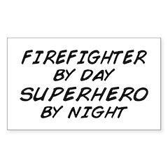 Firefighter Superhero Rectangle Decal