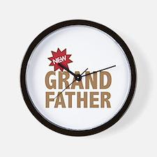New Grandfather Grandchild Family Wall Clock