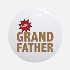 New Grandfather Grandchild Family Ornament (Round)