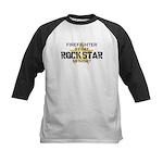 Firefighter RockStar Kids Baseball Jersey