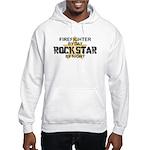 Firefighter RockStar Hooded Sweatshirt