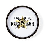 Firefighter RockStar Wall Clock