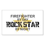 Firefighter RockStar Rectangle Sticker