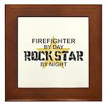Firefighter RockStar Framed Tile