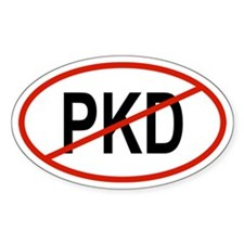 PKD Oval Decal
