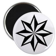 White Nautical Star Flake Magnet