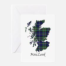 Map - MacLeod Greeting Card