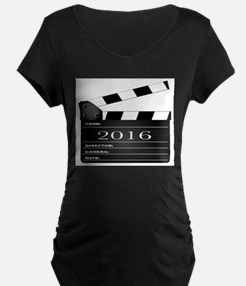 2016 Movie Clapperboard Maternity T-Shirt