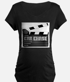 Car Chase Clapperboard Maternity T-Shirt