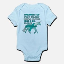 Unicorns Support Scleroderma Awareness Body Suit