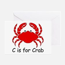 C is for Crab Greeting Card