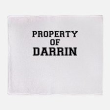 Property of DARRIN Throw Blanket