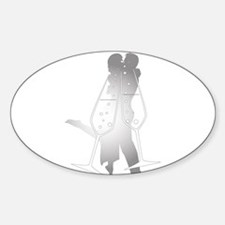 Champagne Glass Kiss Decal