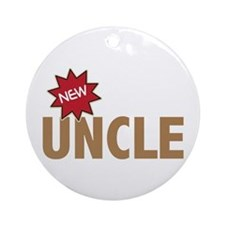 New Uncle Nephew Niece Family Ornament (Round)