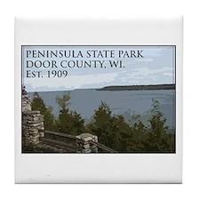 Peninsula State Park Tile Coaster