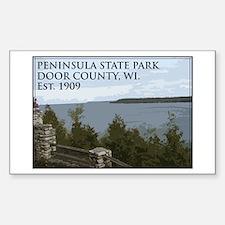 Peninsula State Park Sticker (Rectangle)