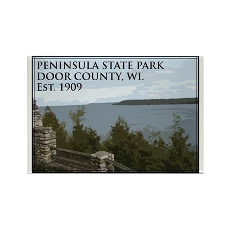 Peninsula State Park Rectangle Magnet (100 pack)
