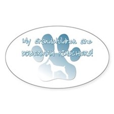 Doberman Pinscher Grandchildren Oval Decal