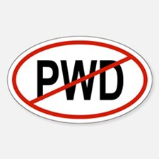 PWD Oval Decal
