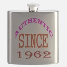 Authentic Since 1962 Birthday Designs Flask