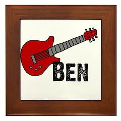Guitar - Ben Framed Tile