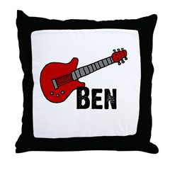 Guitar - Ben Throw Pillow