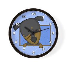 Cartoon Doberman Pinscher Clock
