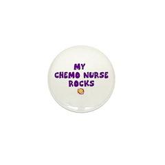 MY CHEMO NURSE ROCKS Mini Button (10 pack)