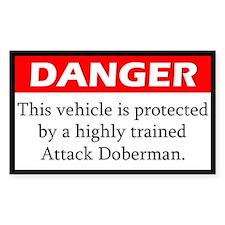 Attack Doberman Pinscher Decal