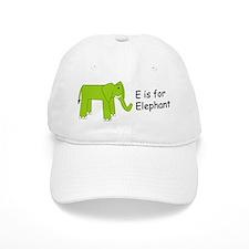 E is for Elephant Baseball Cap