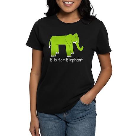 E is for Elephant Women's Dark T-Shirt