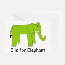 E is for Elephant Greeting Card