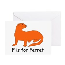 F is for Ferret Greeting Cards (Pk of 10)