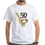 50 golden years Mens White T-shirts