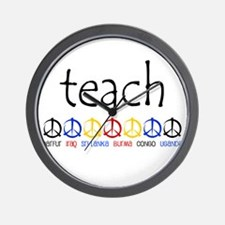 """TEACH PEACE"" SHIRTS Wall Clock"