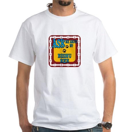 Kishu Ken White T-Shirt