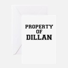 Property of DILLAN Greeting Cards