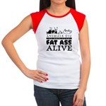 ANIMALS DIE TO KEEP YOUR FAT Women's Cap Sleeve T