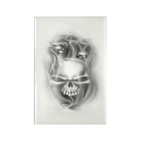 Smokey Skulls Rectangle Magnet