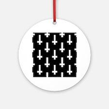 upside down cross Round Ornament