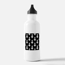upside down cross Water Bottle