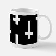 upside down cross Mugs
