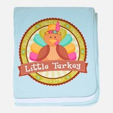 Little Turkey baby blanket