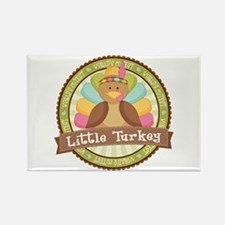Little Turkey Rectangle Magnet